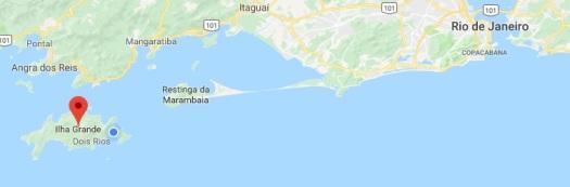 Rio - Ilha Grande map