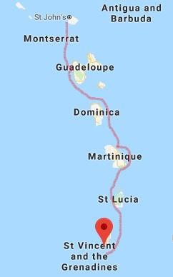 map of windward islands